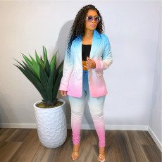 Elegant Gradient Blazer Two Piece Sets NIK-203