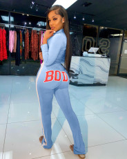 BODY Letter Print Long Sleeve Two Piece Sets MIL-196