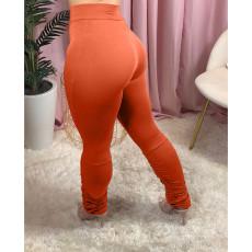 Plus Size Solid Skinny Leggings Stacked Pants DYF-1011
