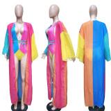Sexy Swimsuits One Piece Swimwear+Long Cloak BN-9113
