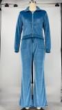 Casual Long Sleeve Zipper Long Sleeve 2 Piece Sets XMY-9294