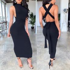 Sexy Sleeveless Backless Long Dress SHE-7128