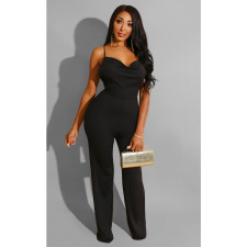 Sexy Solid Backless Spaghetti Strap Jumpsuits SHE-7135