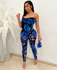 Sexy Printed Off Shoulder Tube Jumpsuits MA-404