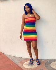 Colorful Stripe Bodycon Mini Tube Dress AWYF-716