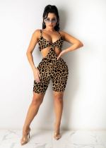 Sexy Printed Hollow Out Strap Rompers MEM-8341