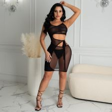 Sexy Mesh Tie Up Club Dresses MUL-S163