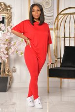 Casual Sports Solid Color Short Sleeve And Pants Two Piece Sets SHA-6228