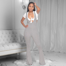 Fashion Casual Solid Color Slim Jumpsuit PIN-8571