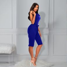 Solid Color Ruffle Sexy Tube Top Rompers PIN-8573