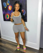 Fashion Sports Fitness Vest Shorts Two Piece Sets LQ-022