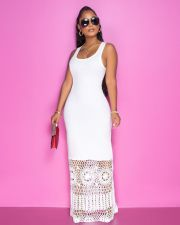 Sexy Sleeveless Lacework Maxi Dress JRF-3609