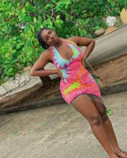 Sexy Tie Dye Tassel Halter Backless Mini Dress YBSF-6669