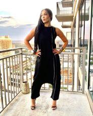 Fashion Casual Sleeveless Jumpsuits MNAF-8087