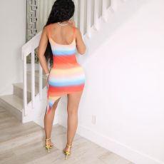 Sexy Print Sleeveless Mini Dress MNSF-8236