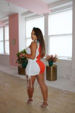 Contrast Color Drawstring Ruched Sleeveless Mini Dress SMD-2068