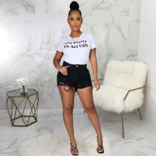 Fashion Slim Ripped Denim Shorts HSF-2472