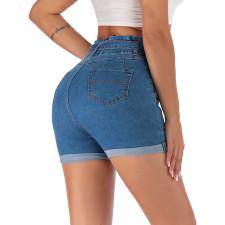 Plus Size Fashion All-match Slim Denim Shorts HSF-2423