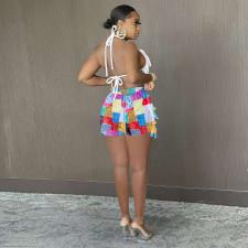 Colorful Printed Tassel Casual Shorts TK-6187