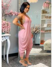 Fashion Casual Solid Color Jumpsuits WAF-77222