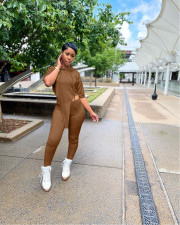 Casual Solid Hooded Two Piece Pants Set YN-88802