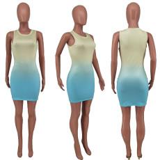 Gradient Sleeveless Slim Mini Dress ZDF-31101