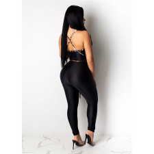 Fashion Sexy Backless Hollow Jumpsuits SHE-7156