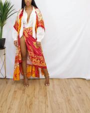 Casual Printed Sun Protection Loose Long Cloak YM-9300