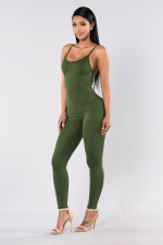 Casual Solid Sleeveless Sling Jumpsuit MZ-2011