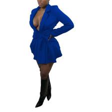 Plus Size Solid Full Sleeve Blazer Coat HNIF-DHN047