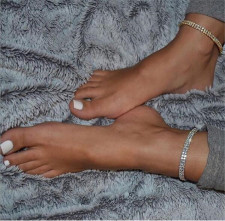 Double Rows Rhinestone Ankle Chain Anklets Jewelry BYCF-0153