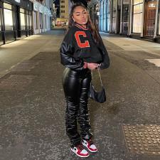 Casual Loose Printed Baseball Jacket Coat WSYF-5895