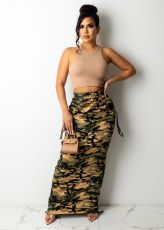 Camouflage Print Maxi Skirt ZNF-9110