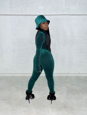 Sexy V Neck Long Sleeve Jumpsuit YD-8525