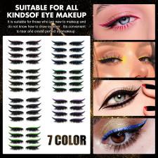 2 In 1 Glitter Shiny Reusable Eyeliner And Eyelash Stickers JMXF-8888