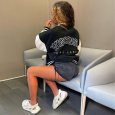 Casual Printed Long Sleeve Full Sleeve Baseball Jacket YNB-7222