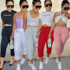 Solid Sports Thick Drawstring Casual Sweatpants BGN-205