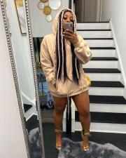 Casual Plush Hooded Long Sleeve Hoodie Top MDUO-M082