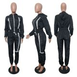 Casual Sports Hooded Two Piece Pants Set JH-279