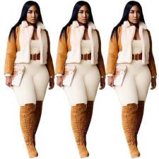 Winter Warm Plush Full Sleeve Short Coat MDF-5195