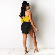 Sexy Tie Up Nightclub Mini Dress FSXF-266