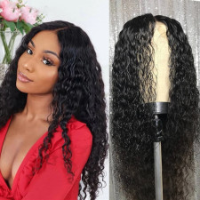 Women Centre Parting Wave Curly Hair Wigs ZHJF-11
