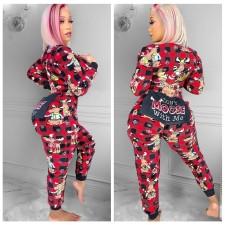 Christmas Print Fashion Jumpsuit IV-5078