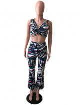 Geometric Print 2 Piece Pant Sets OM-1531