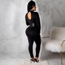 Black Mesh See Through Jumpsuit CHY-1119