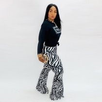 Casual Printed Long Sleeve Two Piece Pants Sets YS-8393