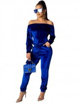 2019 Women Sexy Strapless Velvet Pants Sets Two Pieces YIY-5135