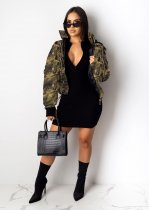 Leopard Hooded Winter Thicken Parkas Down Jacket Coat LUO-6244
