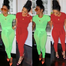 Fashion Short Sleeve Skinny Jumpsuits SH-3528