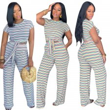 Casual Striped Two Piece Set JUI-9110
